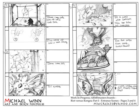 animation layout template storyboard and layout design by michael winn at coroflot com
