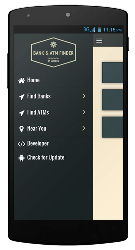 Bank Atm Finder Phonegap Cordova App Template By Codetic Codecanyon Cordova Mobile App Template