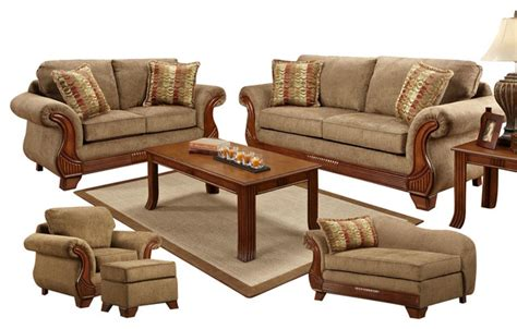 Chelsea Home Shannen 5 Piece Living Room Set In Radar Traditional Living Room Furniture Stores