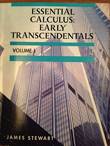 essential calculus early transcendentals custom essential calculus early transcendentals volume 1