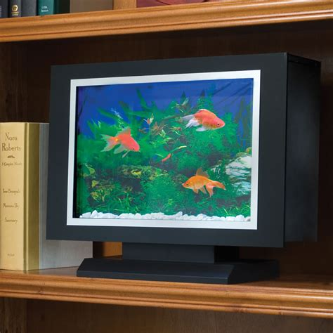 the bookshelf aquarium hammacher schlemmer