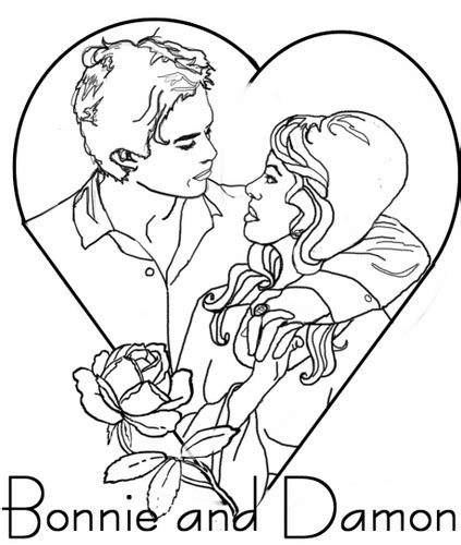 coloring pages vire diaries the diaries couples images colour in bamon 1