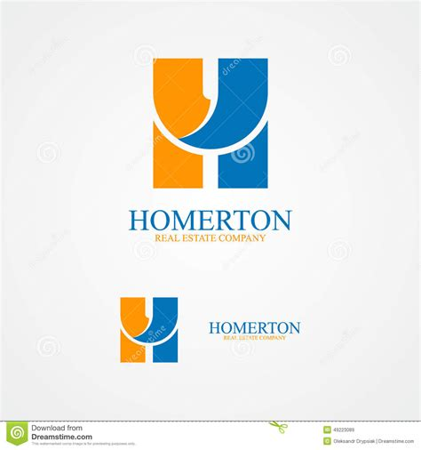 Memo Template Vector image gallery letter h logo design