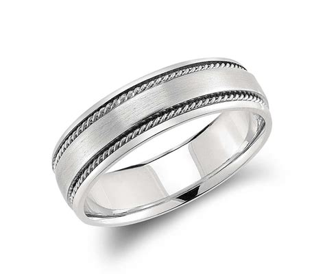 handcrafted twist wedding ring in platinum 6mm blue nile