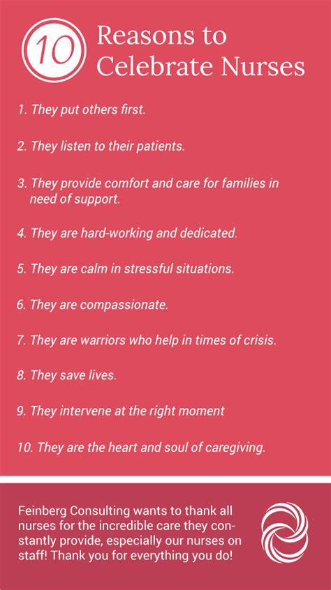 day reason celebrate 10 reasons to celebrate nurses on national nurses day feinberg consulting inc