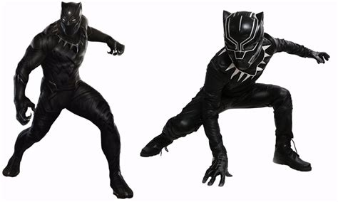 Kaos Civil War Spandex All Size Black xcoser black panther costume captain america civil war battle suit