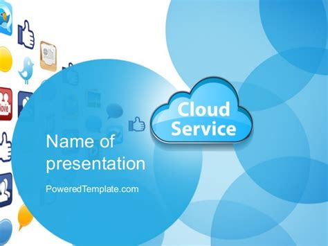 Cloud Service Powerpoint Template Cloud Template For Powerpoint
