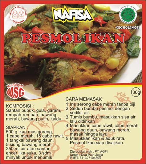Bumbu Gulai Non Msg Nafisa produk bumbu nafisa