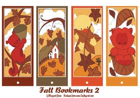 printable bookmarks fall fall autumn bookmarks 2 cup454466 601 craftsuprint