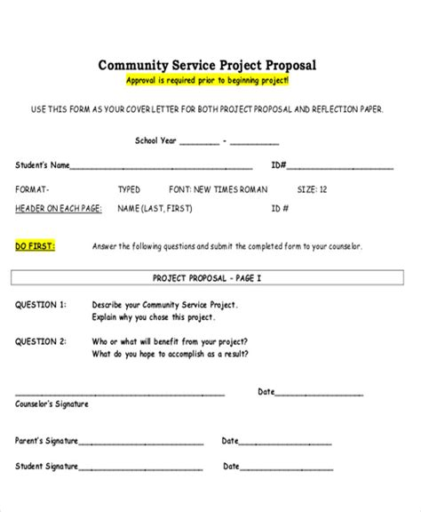Community Service Project Letter Project Letter 18 Recommendation Report And Project Business Letter
