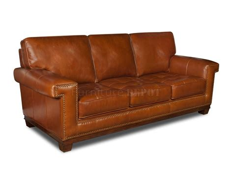 Best Leather Furniture by Rustic Top Grain Leather Modern Sofa Plushemisphere
