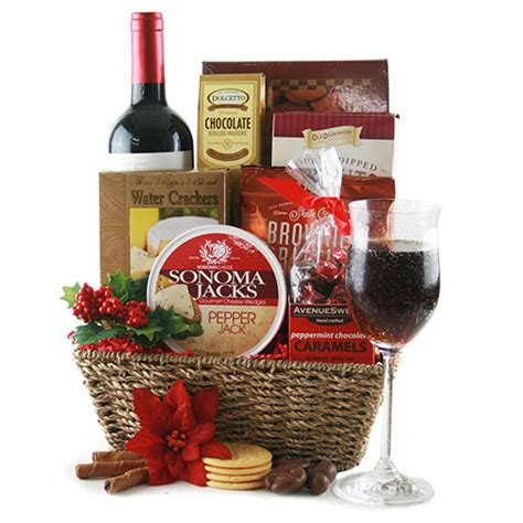 christmas gift baskets tidings of joy christmas wine gift