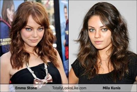 emma stone and mila kunis emma stone totally looks like mila kunis totally looks like