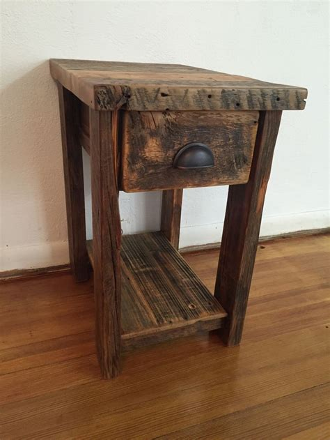 small wood end table best 25 rustic end tables ideas on farmhouse