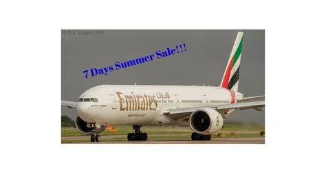 emirates sale 7 days summer sale from emirates airline travelguzs deals