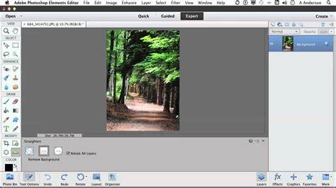tutorial photoshop elements 11 photoshop elements 11 tutorial straightening an image