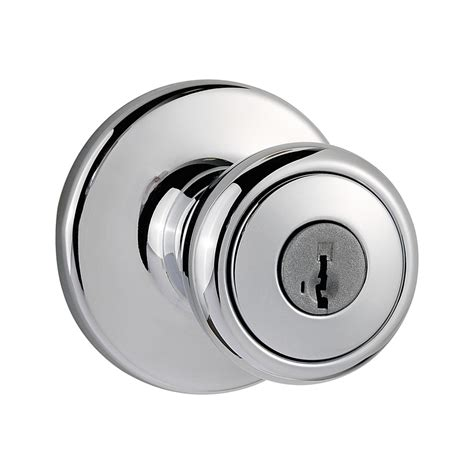 Chrome Door Knobs Shop Kwikset Tylo Smartkey Polished Chrome Keyed