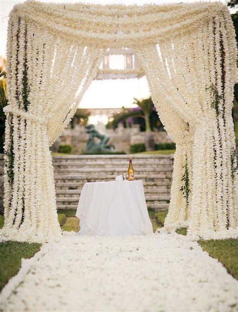outdoor wedding draping how elegant are these draping floral curtains 30 unique