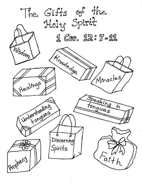 Holy Spirit Coloring Pages For Children by Lds Gifts Of The Holy Spirit Coloring Pages Clever
