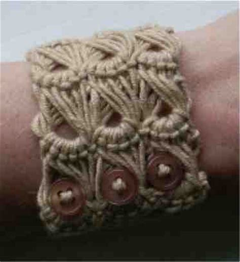 how to make lace jewelry how to make a lace weave bracelet broomstick lace