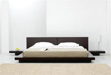 modern low bed temptation chocolate platform bed at gowfb ca bedroom