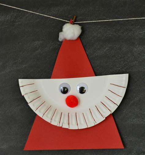Basteln Zum Nikolaus nikolaus basteln dreieck kinder ideen papptelle bart