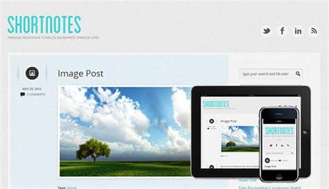 themes para tumblr estilo blog shortnotes theme estilo tumblr para wordpress kabytes