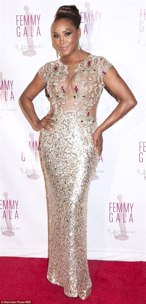 Worst Dress Of The Year Vivica Fox In Naeem Khan by Vivica A Fox Goes Without A Bra In Sheer Dress At