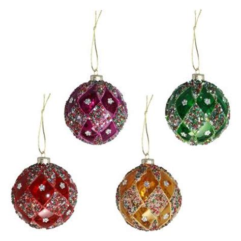 stained glass christmas bauble christmas decorations