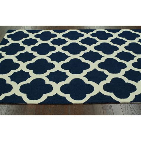 Navy Trellis Rug by Trellis Navy Nallah Area Rug Wayfair