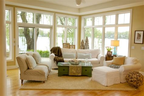 lake house living room decorating ideas lake home style living room detroit by company interior design llc