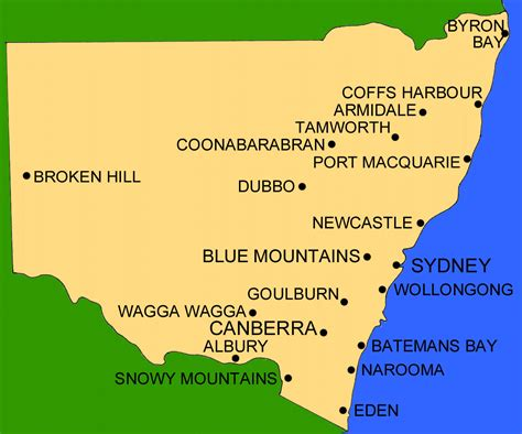 map of new south wales australia map of new south wales australia with cities memes
