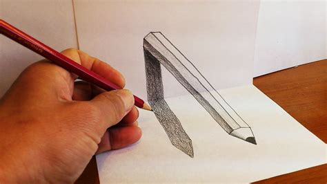 How To Make A 3d Drawing On Paper - how to draw 3d pencil optical illusion on paper