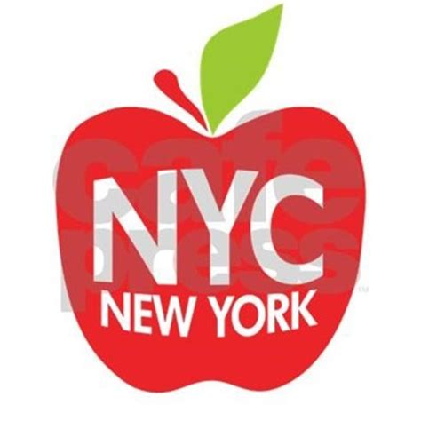 New York Wall Decal Sticker big apple green nyc rectangle decal by zerotees