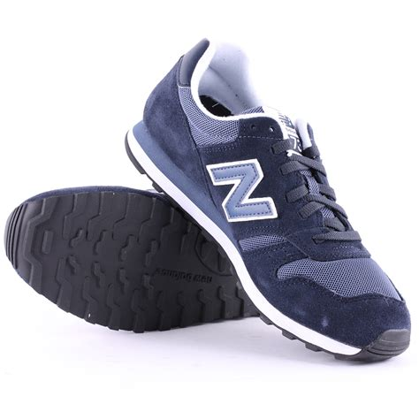 New Balance 373 Navy Putih new balance 373 mens suede synthetic navy white trainers