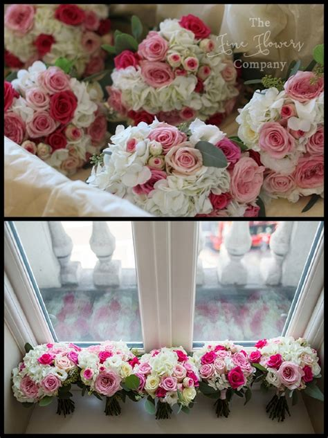 pink wedding flowers pretty pink wedding flowers