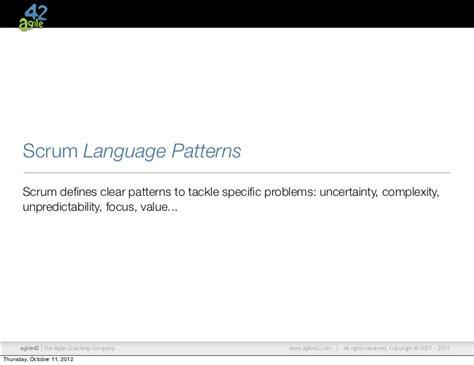 scrum pattern language swen oct 2012 enterprise transformation with scrum