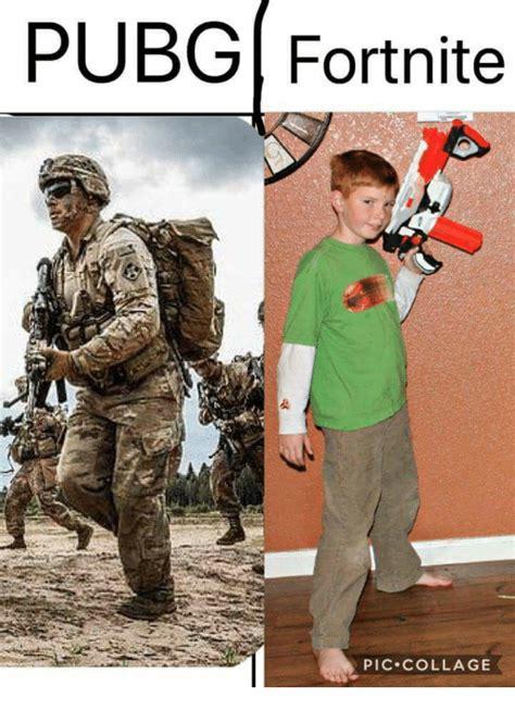 fortnite vs pubg meme pubg fortnite pic collage collage meme on me me