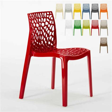 sedie propilene sedia impilabile per bar cucina in polipropilene design