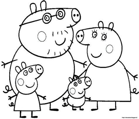 colouring pictures of peppa pig and george free peppa pig printable coloring pages coloring home