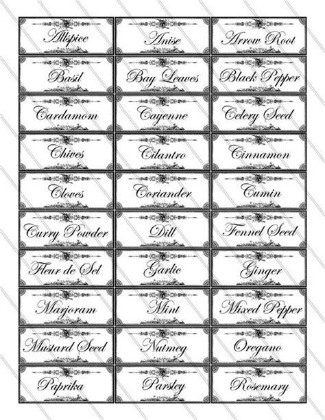 incredible free printable mason jar spice jar labels mason jar