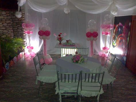 fondo de mesa decorado decoracion para bautizo rosa y blanco ideas para