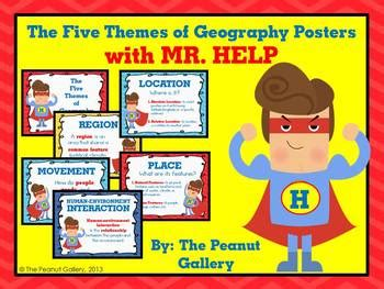 5 themes of geography bulletin board the five themes of geography posters with mr help by