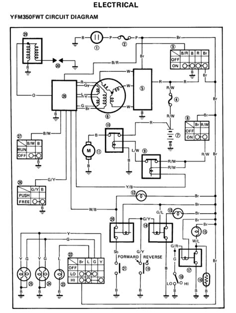 wiring diagram for yamaha 350 big wiring diagram