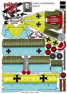 Papercraft Planes - fokker dr1 http www fiddlersgreen net models aircraft