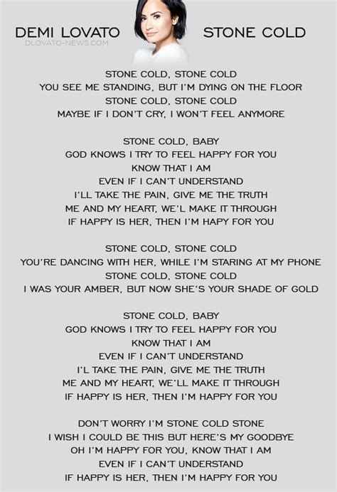 demi lovato stone cold song lyrics stone cold by demi lovato whether you like her music or