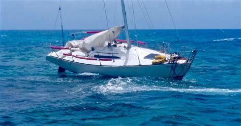 sinking boat vine 9 rescued from sinking sailboat st croix source