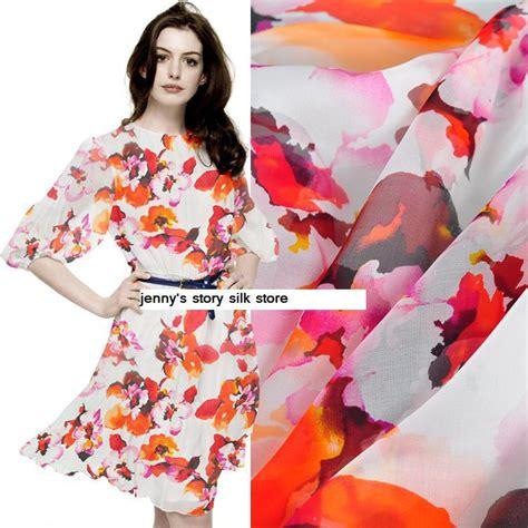 floral silk scarf chiffon fabric aliexpress buy europe silk scarf shirt skirt dress