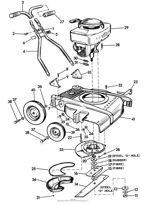 lawn boy mower parts diagram lawn boy 5000 lawnmower 1956 sn 600000001 699999999