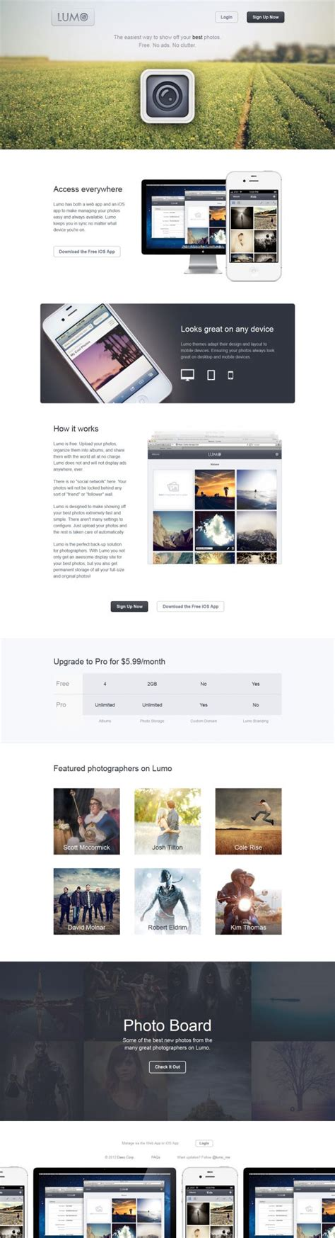 design inspiration websites 2016 lumo the easiest way to show off your best photos